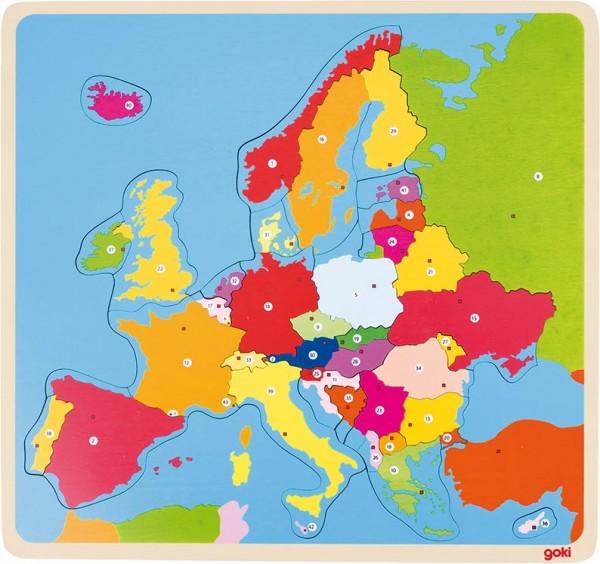 Einlegepuzzle Europa