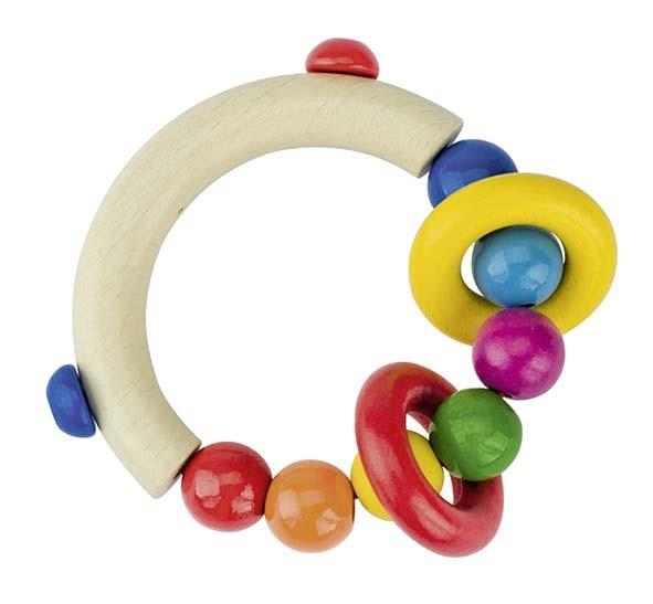 Greifling mit Perlen und 2 Ringen