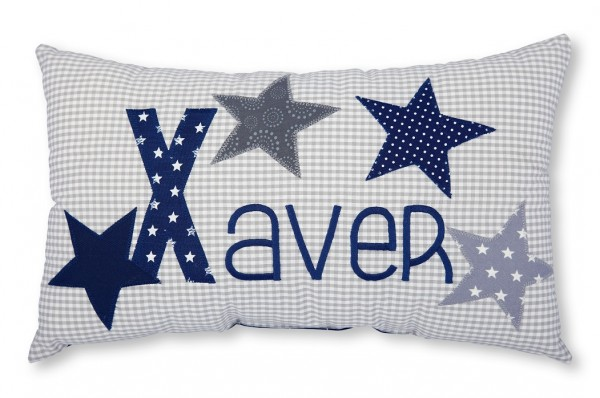 Namenskissen / Sterne (Modell: Xaver)