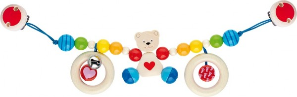 Kinderwagenkette Herzbär mit Clips