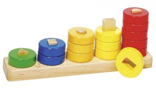 Sortierspiel Lerne Zählen mit Ringen