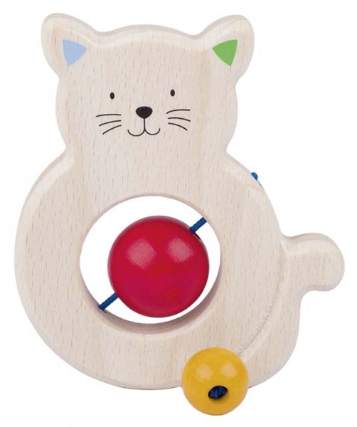 Greifling Katze mit Perlen