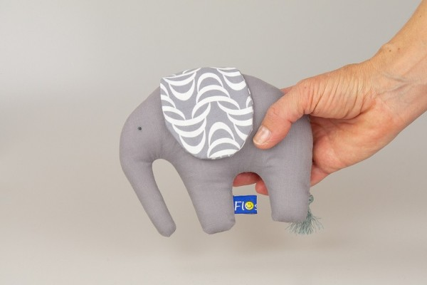 Greifling Elefant Grau