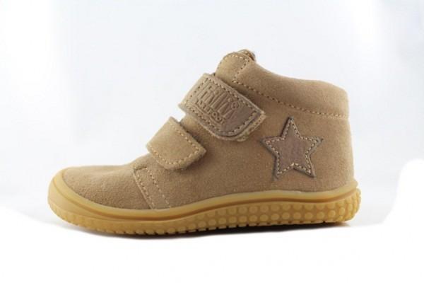 Barefoot Schuhe - Klett Velcro cappuccino/Fleece