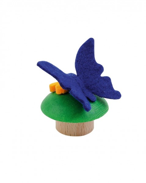Geburtstagskranz Steckfigur Schmetterling blau