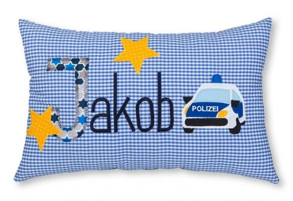Namenskissen / Polizeiwagen (Modell: Jakob)