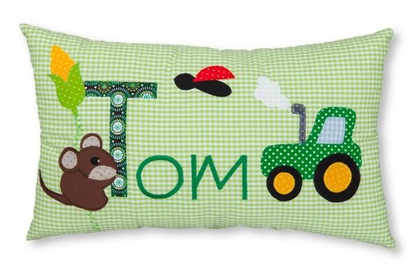 Namenskissen / Traktor & Maus (Modell: Tom)