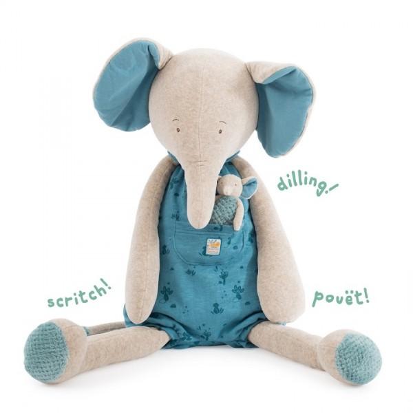 Großer Plüschtier Elefant Bergamote