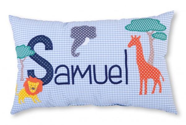 Namenskissen / Löwe, Giraffe & Elefant (Modell: Samuel)