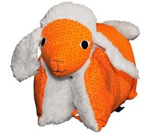 Kuscheltier / Kissen Lamm orange-teddy