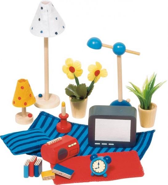 Puppenhauszubehör - Accessoires Wohn- und Schlafzimmer