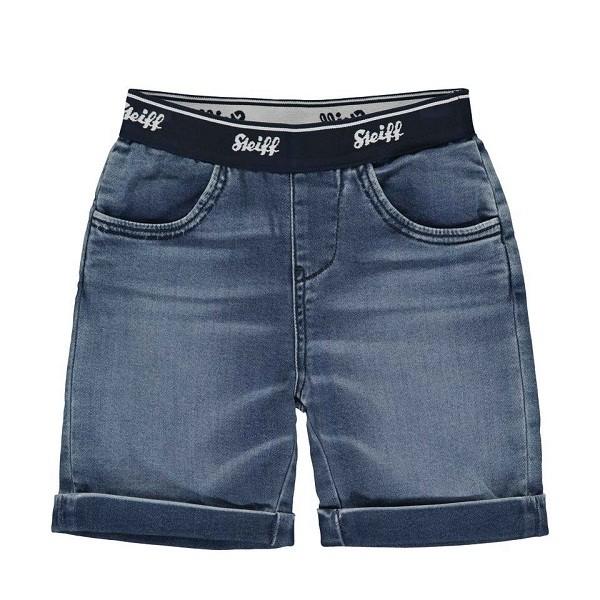Jeans-Shorts mit Gummibund