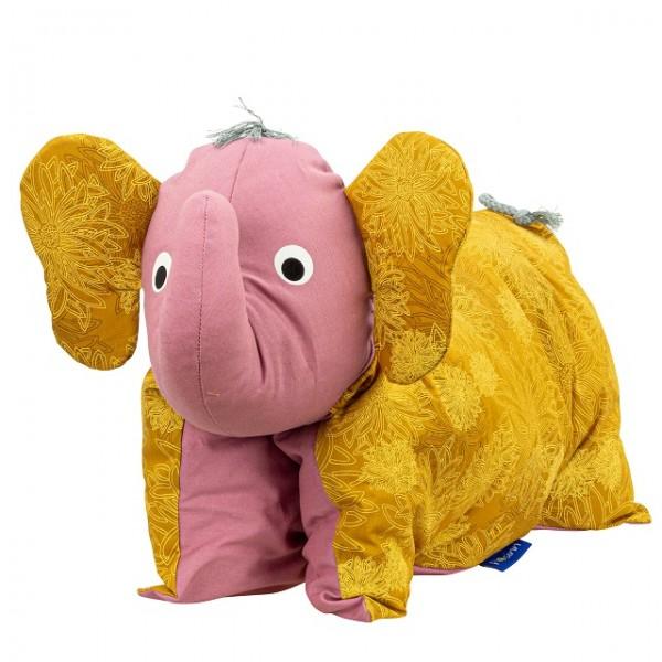 Kuscheltier / Kissen Elefant Gold-Rosé
