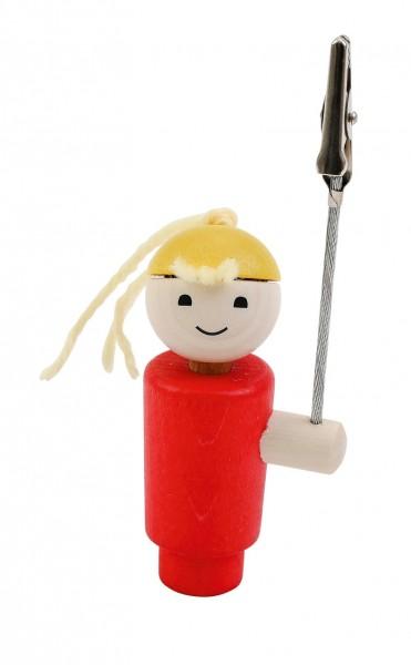 Geburtstagskranz Steckfigur Klemmi Mädchen rot