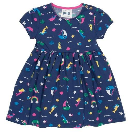 Kleid mit Meerjungfrau-Print