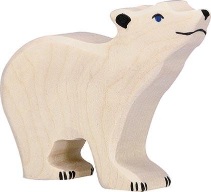 HOLZTIGER Eisbär klein, Kopf hoch