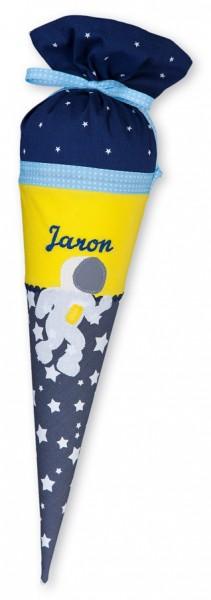 Geschwister-Schultüte mit oder ohne Namen / Astronaut (Modell: Jaron)