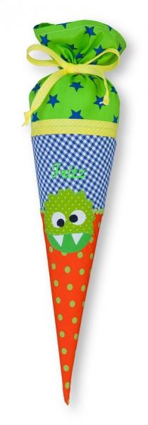 Geschwister-Schultüte mit oder ohne Namen / Süßes Monster (Modell: Fritz)