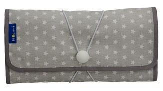 Wickeltasche / Mummy Clutch grau mit Sternen