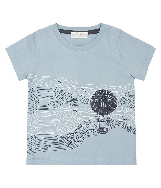 T-Shirt mit Heißluftballon-Druck IBON