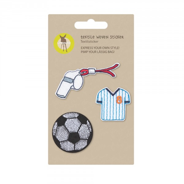 Textile Woven Sticker Football