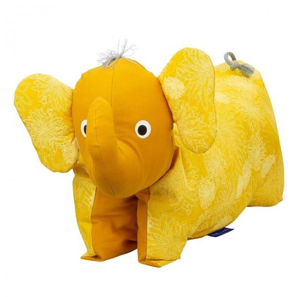 Kuscheltier / Kissen Elefant Sonne