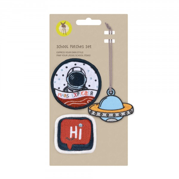 School Patches Set Space