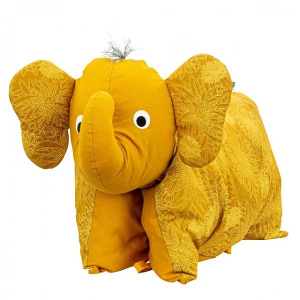 Kuscheltier / Kissen Elefant Gold