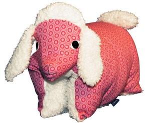Kuscheltier / Kissen Lamm pink-teddy