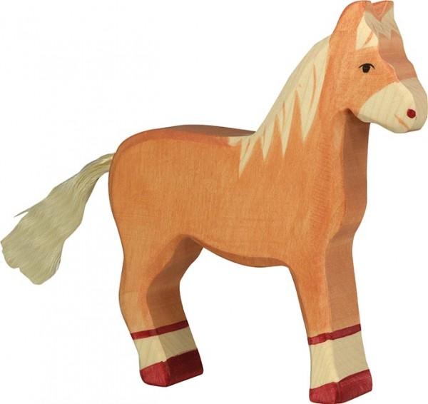 HOLZTIGER Pferd hellbraun, stehend