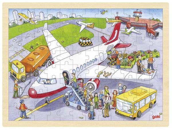 Einlegepuzzle Auf dem Flughafen