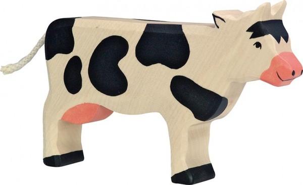 HOLZTIGER Kuh schwarz, stehend